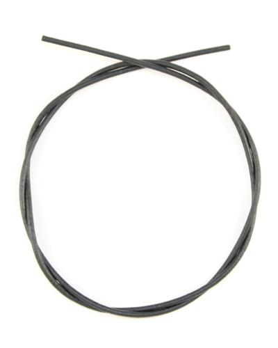 Шнурок кожаный d = 2,5 мм черный