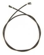Шнурок кожаный плетённый d = 3 мм черный