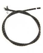 Шнурок кожаный плетённый d = 4 мм черный