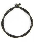 Шнурок кожаный плетённый d = 5 мм черный