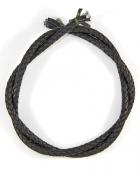 Шнурок кожаный плетённый d = 6 мм черный